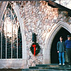 Ben and Randal at Chapel Entrance - Callaway Gardens, Pine Mountain, GA  12-25-96