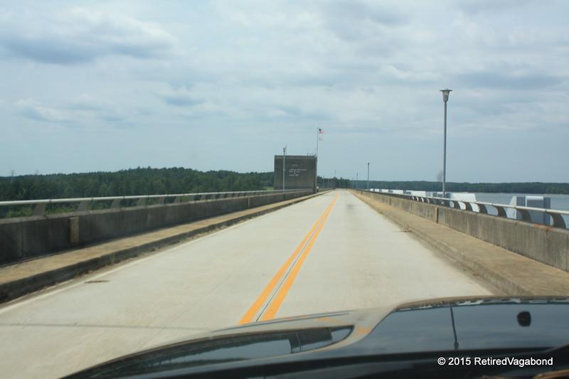 Driving Across Clarks Hill Dam