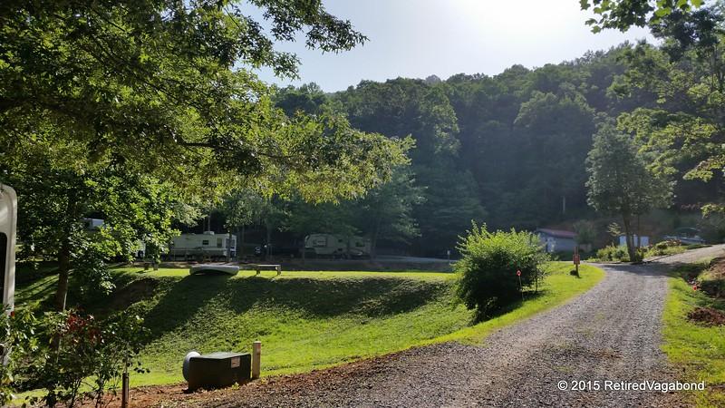 Pulling in Long Ridge Campground Hiawassee, Georgia