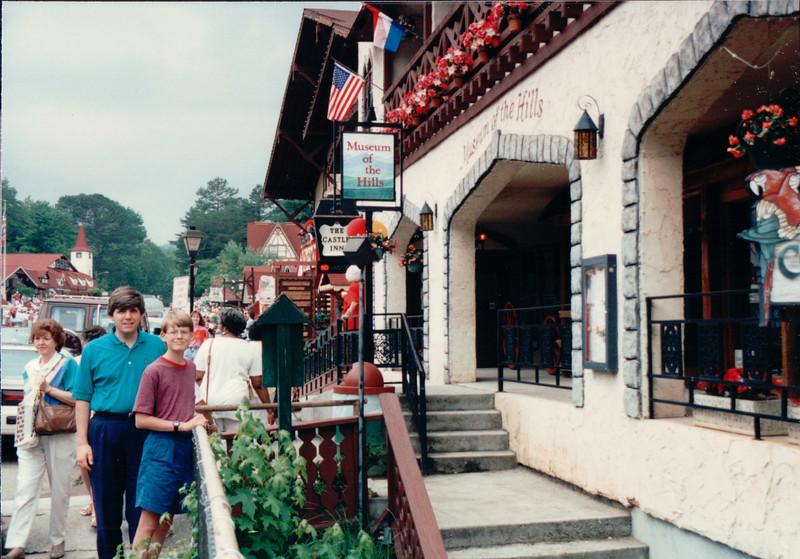 Randal and Ben in Shopping Area - Helen, GA  6-11-94