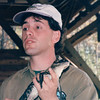 Chris Hart with Baby Alligator, Our Educational Speaker - Okefenokee Swamp National Wildlife Refuge - Waycross, GA  11-28-97