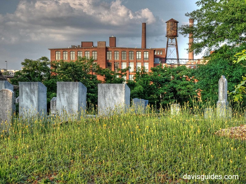 Fulton Bag and Cotton Mill complex from Oakland Cemetery, Atlanta
