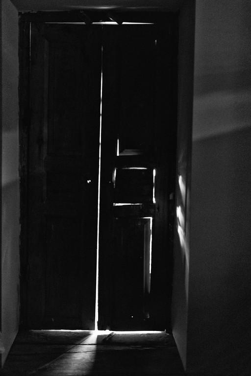 The light-leaking door, Shenako, Tusheti, Georgia