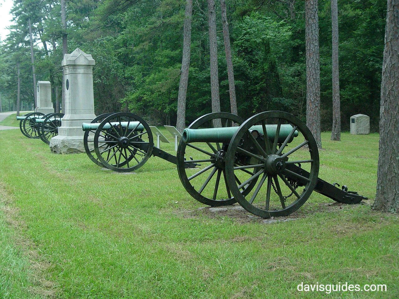 Battle Road monuments, Chickamauga Battlefield