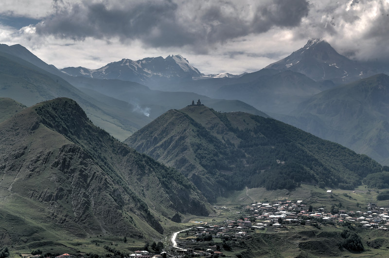 Panoramic Landscape - Kazbegi, Georgia