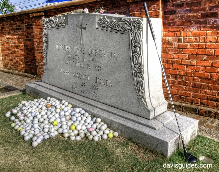 Grave of golfer Bobby Jones, Oakland Cemetery