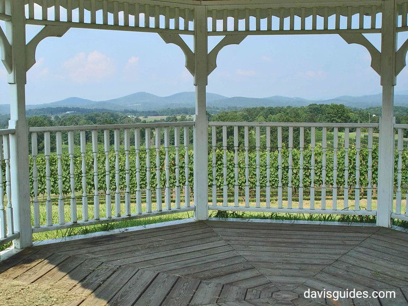 Gazebo at Three Sisters Winery, North Georgia