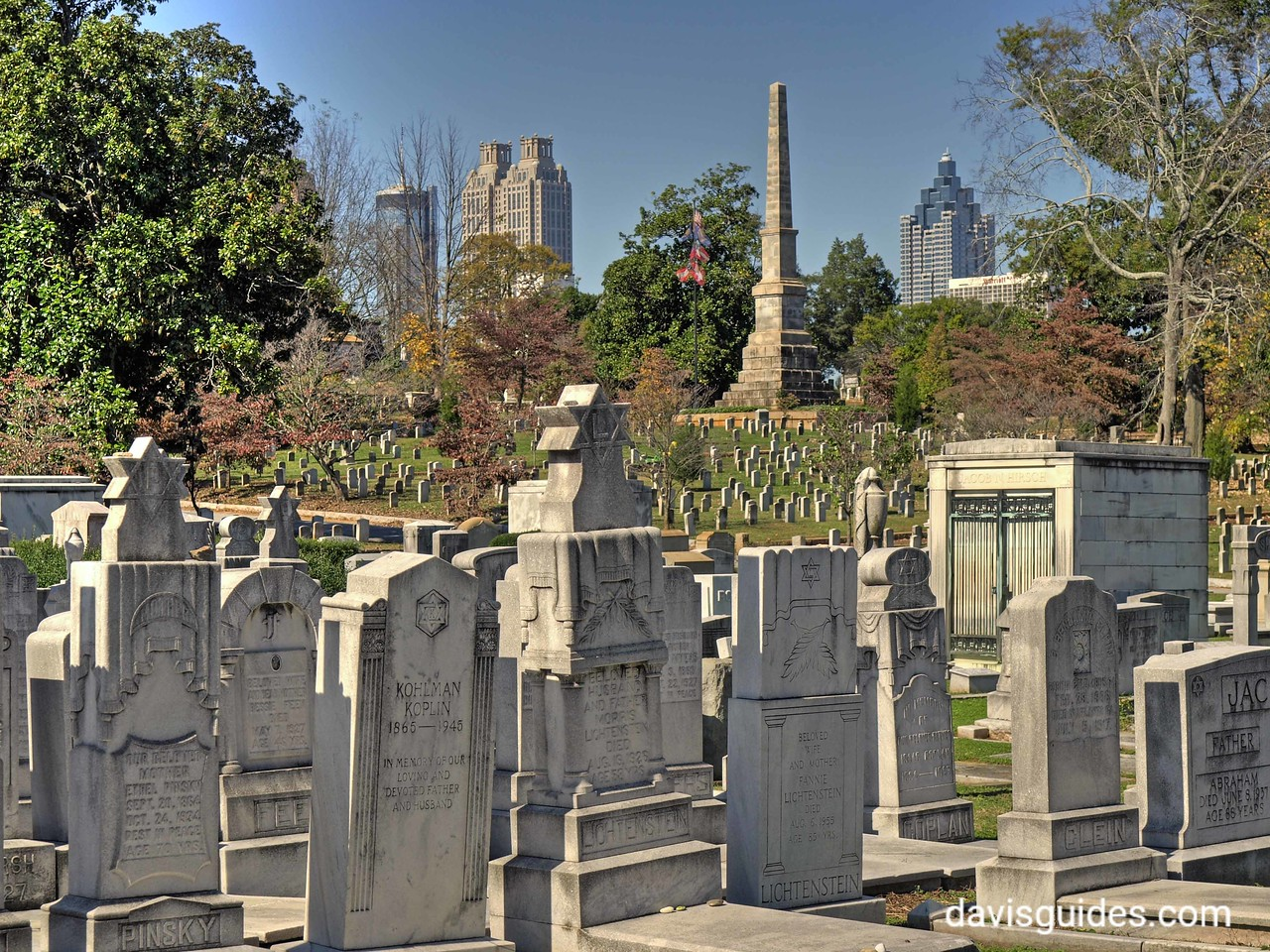 Jewsish section of Oakland Cemetery, Atlanta