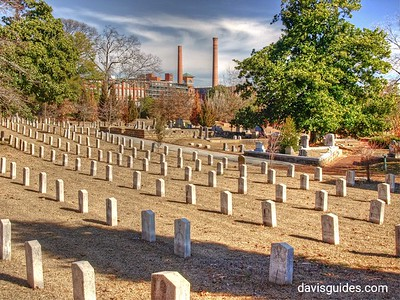 Confederate Memorial Grounds and old Fulton Bag and Cotton Mill, Oakland Cemetery, Atlanta