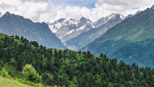 Mountainscape around Mestia