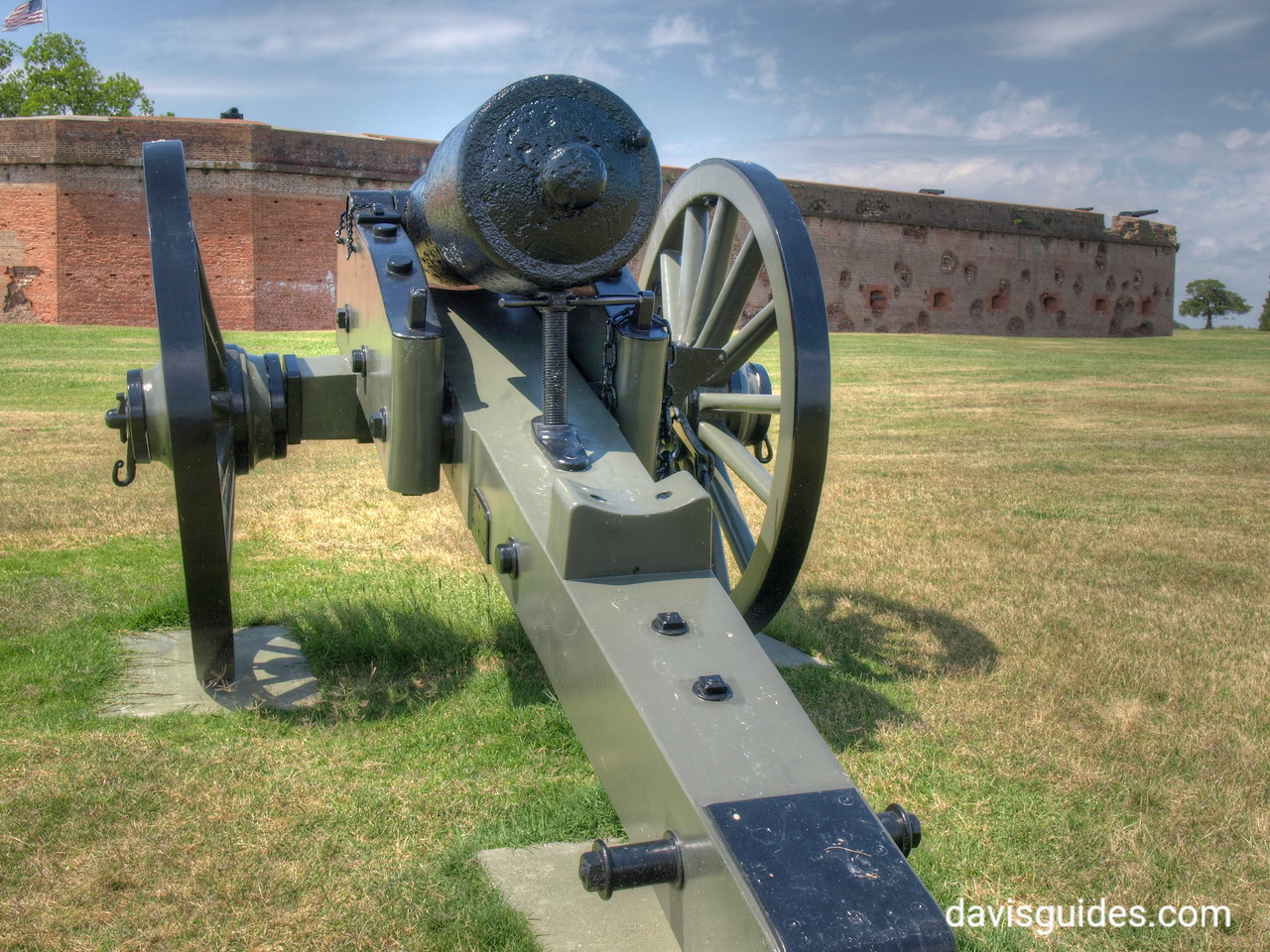 Siege cannon at Fort Pulaski National Monument