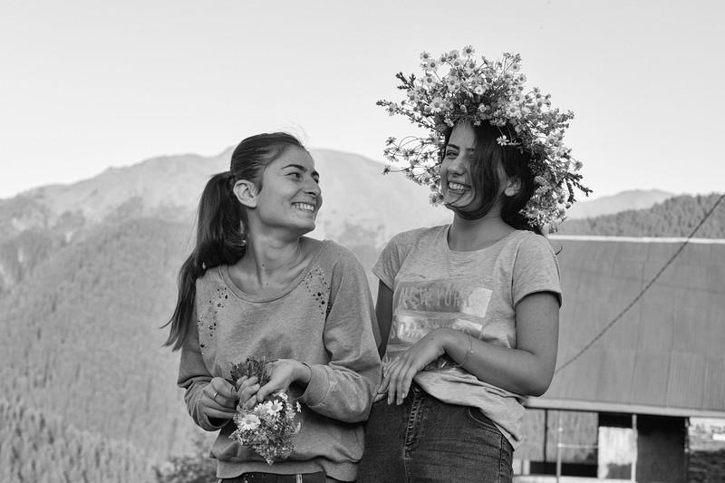 The girls, Shenako, Tusheti, Georgia