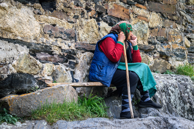 Old woman, Ushguli, Svaneti