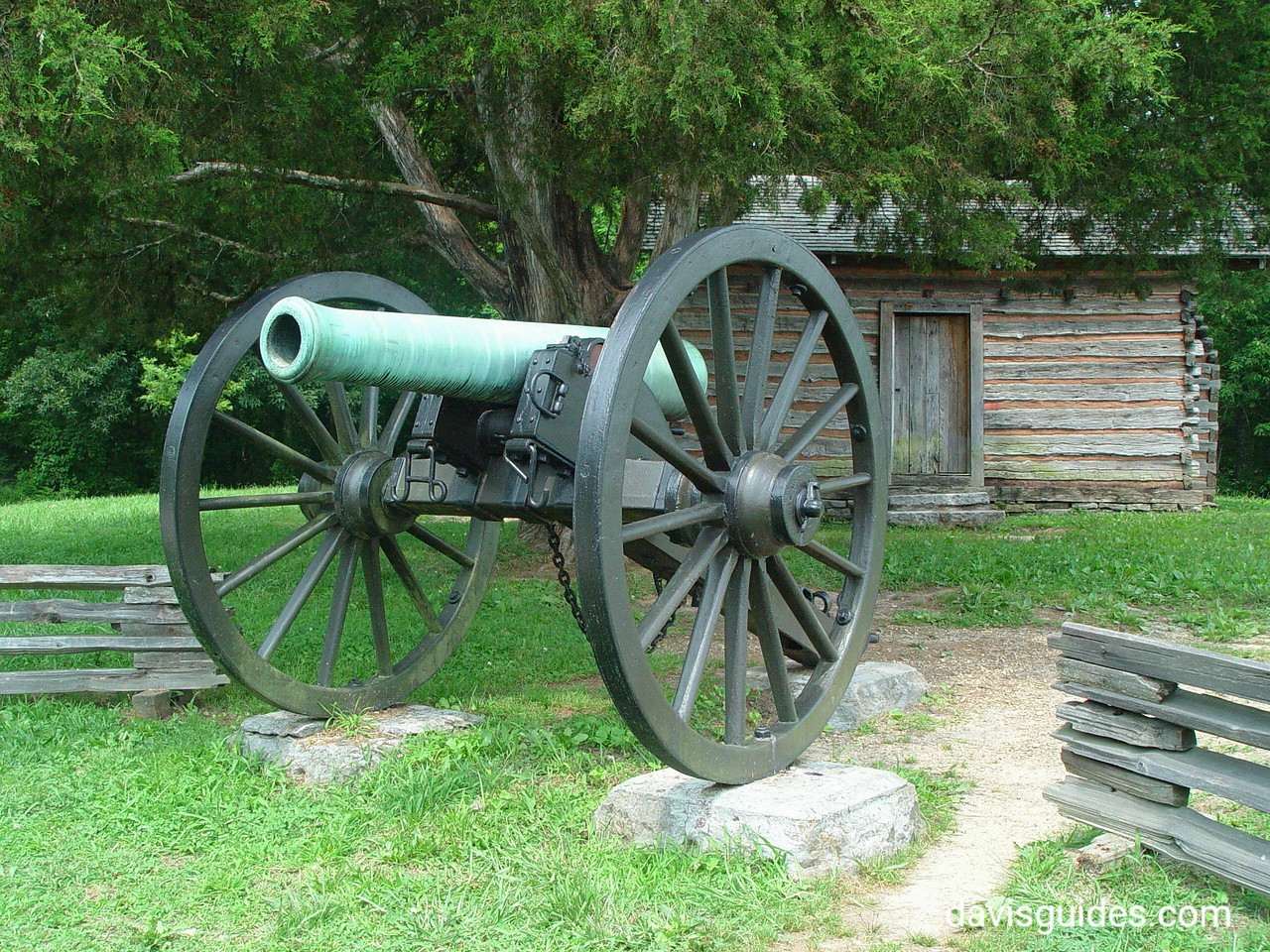 artillery displayed outside Snodgrass House, Chickamauga Battlefield