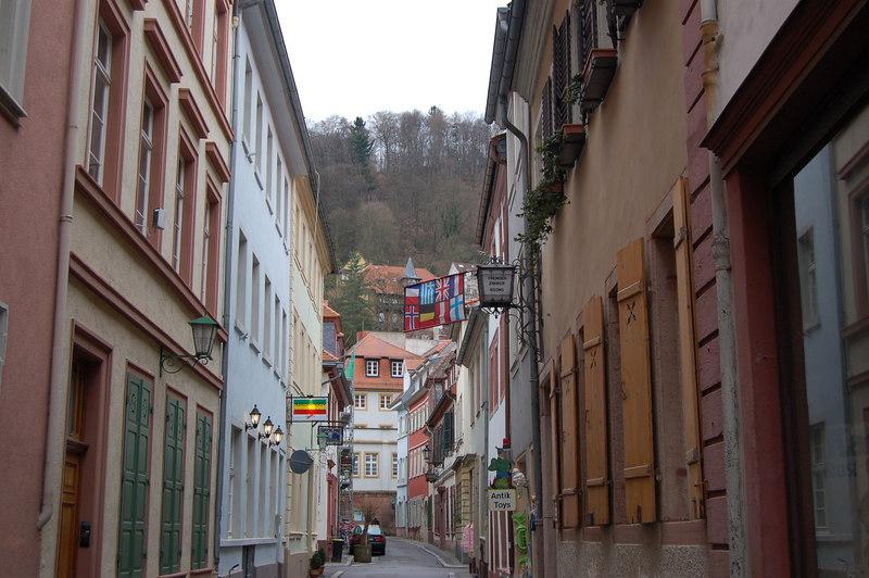 A side street in the old city (altstadt) part of Heidelberg