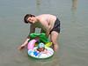 Schwimm-Tim mit Papa