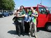 Jens und Antonie am Flughafen München