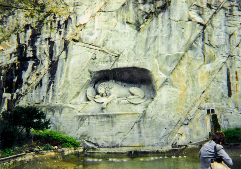 Lucerne's Lion Monument --<br /> Lucerne, Switzerland