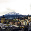 Lucerne and Mt. Pilatus --<br /> From Glacier Garden Lookout Tower<br /> Lucerne, Switzerland