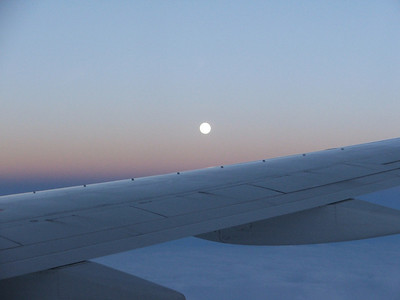 Moon rising over the Atlantic
