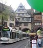 Streetcar coming through Schwabentor