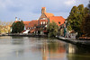Landshut - Buildings on the river Isar.