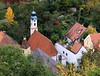 Landshut - Small church and garden.