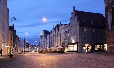 Landshut - View down Altstadt.