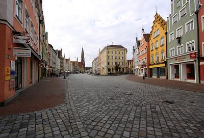 Landshut - Altstadt, the historic main street of Landshut.