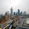 A view of Frankfurt from a tower in a shopping center.