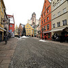 The cobblestone street in front of our hotel.
