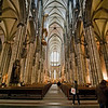 The main nave of the Dom. The cathedral was built between the 13th and 19th centuries to house the bones of the Three Magi.