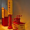 Old Shell gasoline pumps.