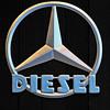 The Mercedes-Benz diesel logo.