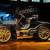 An early Mercedes in the Birth of the Brand Legend Room.