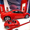Cars for all ages at the Ferrari store.