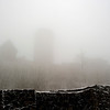The Nürburg castle ruins appear as we hike up in the fog. The castle was built around the 1160s.