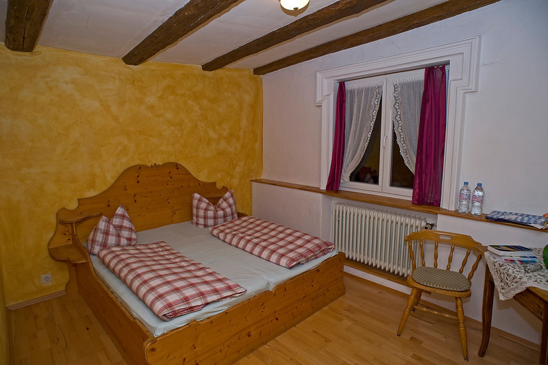 Our room at Guesthouse Raidel in Rothenburg.