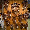 Cuckoo clocks for sale at Anneliese Friese's shop.
