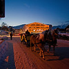Horse drawn sleigh in the town of Seefeld.