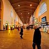 Inside the Stuttgart Hauptbahnhof.