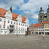 Just two blocks from the Castle Church is the townhall (left) and the City Church (St. Mary), where..