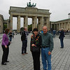 In front of the Brandenburg Gate in the former East Berlin