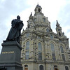 Martin Luther is honored outside this exquisite Lutheran church in Dresden