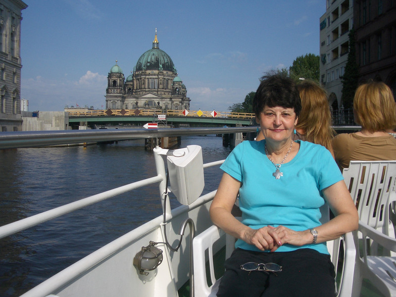 The German Bundestag is in the background
