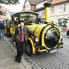 """We rode """"The Bimmel Bahn"""" to the castle (notice the Steelers/Pirates colors)"""