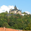 The view from our bedroom window (we visited the castle our last day in Wernigerode)