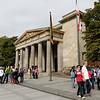 Berlin - This is the exterior of the Neue Wache (new Guard House), which is located on the north side of Unter den Linden.  This was built as a Guard House in 1816 and has been a war memorial since 1931.