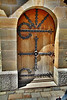 An outside door into Neuschwanstein Castle.