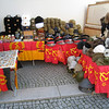 Berlin - near Checkpoint Charlie.  This is only one of the many small sidewalk vendors offering Soviet and East German military souvenirs.  I never saw anyone making a purchase, so I'm surprised they're still in business.